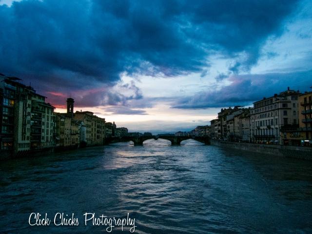 The Arno at night.