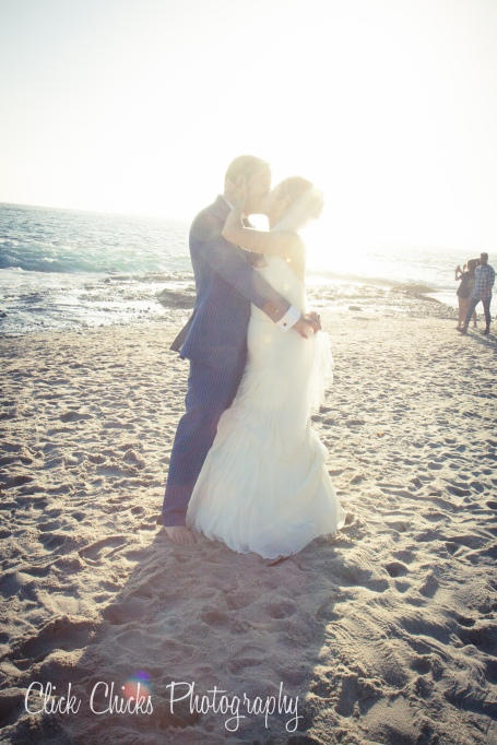 "This NY couple chose to say their ""I Do's"" at Tablerock Beach, just south of Aliso Creek."