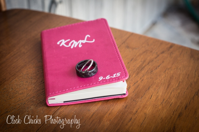 I LOVE this idea. Rather than reading from a piece of paper or, God forbid, your cell phone, write vows in a cute little book. Skylar's was black.