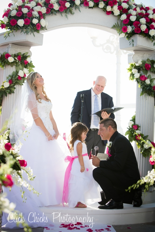 Favorite part of the ceremony. Skylar presented a special silver heart necklace to Aria. Sooooo sweet.