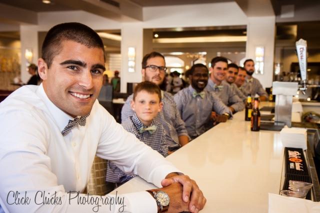 Boys chillin' at the Hyatt Newport Beach bar.
